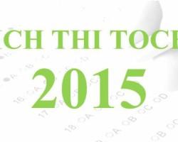 Lịch thi năng lực Hoa ngữ (TOCFL) năm 2015